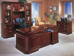 Tribeca Loft Desk by Home Executive Office Furniture Tribeca Loft Cherry Double