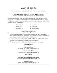 free easy resume template word resume templates word easy template gfyork free vasgroup co