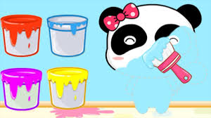 baby learn colors little panda color mixing kids game baby panda