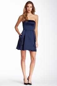 jill jill stuart strapless bow back satin dress satin dresses