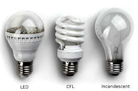 sa cost comparison of led cfl and incandescent light bulbs