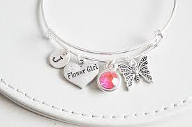 flower girl charm bracelet flower girl bracelets flower girl gift gift for flower girl