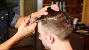 mens haircuts and how to cut them barbering haircut techniques looking sharp men s hair youtube