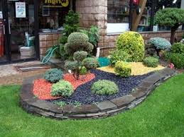 Small Rock Gardens by Natural Stones Arrangement Hedging The Rock Garden And Some Small