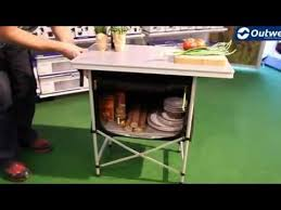 outwell regina folding kitchen table campingworld co uk youtube