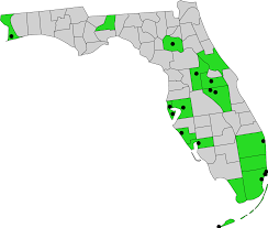 Florida Map With Counties by File Florida Counties And Cities With Domestic Partnership Svg