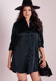 plus size silk blouse lyst missguided plus size silk shirt dress navy in black