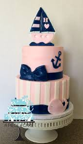 nautical baby shower cakes once upon a party pinterest