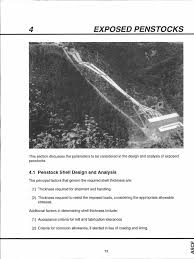 steel penstocks 4 exposed penstocks pdf bending structural steel