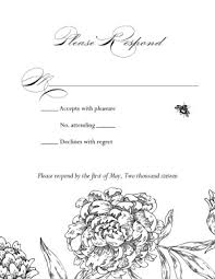 printable formal wedding response card template