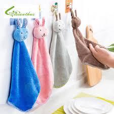 serviette cuisine lapin de dessin animé suspendu serviette cuisine salle de bains