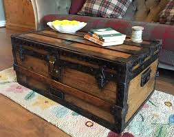 steamer trunk side table treasure chest coffee table wonderful trunk for living room home