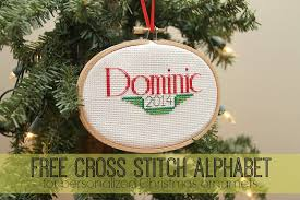 free cross stitch alphabet for personalized ornaments