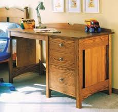 Woodworking Plans Desk Accessories by Build To Suit Study Desk Woodworking Plan From Wood Magazine