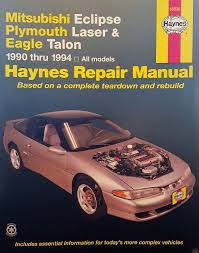haynes publication 68030 mitsubishi eclipse plymouth laser eagle