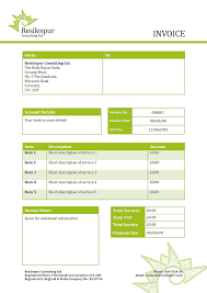 9 consultant invoice template word driver resume pdf wo saneme