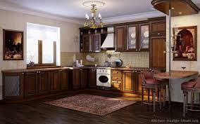 Dark Wood Floor Kitchen by Pictures Of Kitchens Traditional Dark Wood Kitchens Golden Brown
