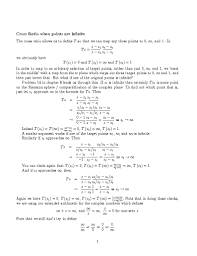 Pta Resume Ma 410 Complex Analysis 2003 Block 7