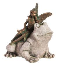 fairy garden statues fairy with frog statue statues pinterest frog statues and frogs