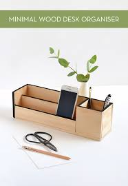 Diy Wood Desk Make It Minimal Wood Desk Organizer Curbly