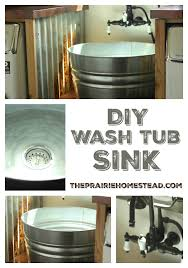 Salvaged Sink Diy Galvanized Tub Sink Farmhouse Laundry Rooms Wash Tubs And