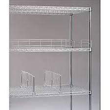 Metro Wire Shelving by Dividers For Metro Chrome Open Wire Shelving