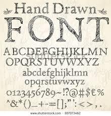 vector sketch design alphabet stock vector 27132787 shutterstock