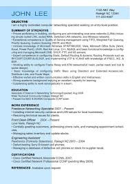 Ccna Resume Sample free entry level resumes samplebusinessresume com sample entry