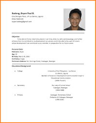 simple job resume format pdf collection of solutions sle resume format for job application