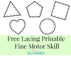free lacing prinable fine motor skill the diary of a real