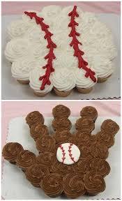 baseball pull apart cupcake cake cupcakes we love pinterest