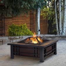 wood burning fire table real flame morrison wood burning fire pit walmart com