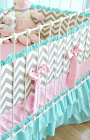 Chevron Bedding For Girls by Pink And Gray Chevron Baby Crib Bedding Chevron Crib Bedding