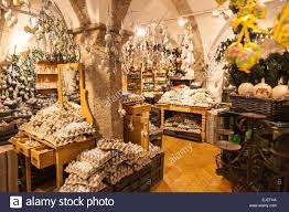 a shop in salzburg austria selling decorated eggs for christmas