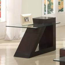homelegance 3 piece glass coffee table set w trapezoid