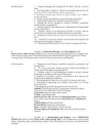 Merchandiser Job Description For Resume by Alok Resume