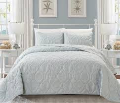 Seashell Duvet Cover Grey Embossed Seashell Theme Bedspread Queen Set Classic Coastal