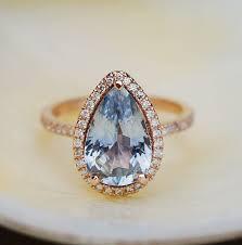 light blue sapphire engagement rings blue sapphire engagement ring 14k gold 3 84ct