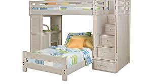 creekside stone wash twin twin step bunk bed with desk bunk desk