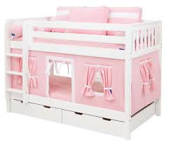 Playhouse Bunk Bed Pink And White Playhouse Bunk Bed In White By Maxtrix 700 1