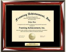 frames for diplomas diploma frame etsy