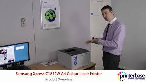 samsung xpress c1810w a4 colour laser printer demo youtube