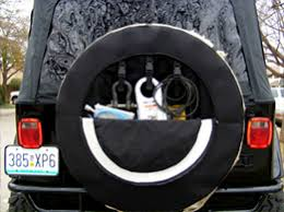jeep beer tire cover an off road tire cover with a secret
