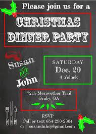 christmas fancy christmas dinner invitations templates paperni