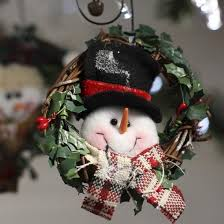 Decorating Grapevine Wreaths For Christmas by Primitive Snowman Grapevine Wreath Christmas Ornaments