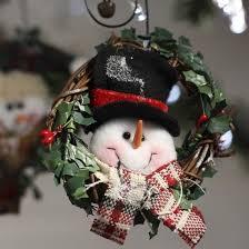 primitive snowman grapevine wreath ornaments