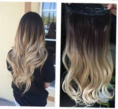 clip in hair one dip dye clip in hair extensions ombre brown to