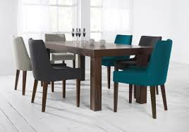 Material For Dining Room Chairs Modren Fabric Dining Chairs Teal Light Petrol Coloured Pair For