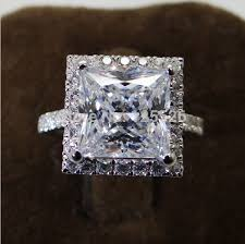 white topaz engagement ring white topaz and white gold princess cut engagement rings