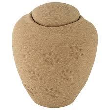 dog urns for ashes oceane sand pawprints biodegradable pet cremation urn large pet